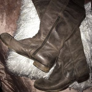Knee high Steve Madden boots, with attached sock